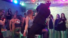 Sexparty euro amateurs blowing stripper cocks