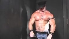 POSING Leather Hunk in Shades