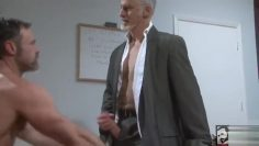 Hot Older and Delivery Guy Fuck in Office