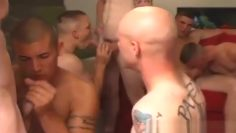 straight Army buddies have an orgy