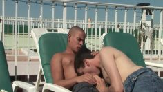 Hot guys love fucking by the pool