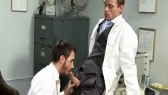 Neil fucks Ludovic at the doctors office