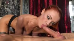 Beautiful blowjob with cum in mouth