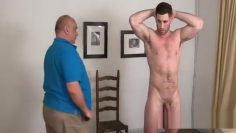 muscled man spanked