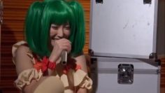 Kinky Japanese cosplay lover Chika Arimura makes a solo action