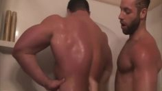 Frank and Anthony shower