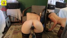 Amateur getting fucked by machine squirt homemade