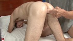 Merry Christmas from Kyler Butler while hes dildo fucked and eats cum
