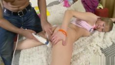 Fhuta – Amber Phillips gets her anus fingered and prepared.